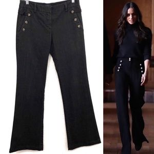 Theory Reese black wide leg trouser jeans